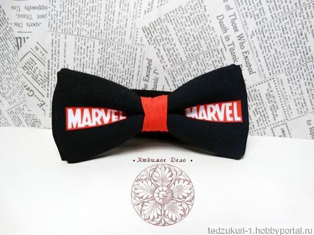 "Галстук-бабочка ""Marvel"" ручной работы на заказ"