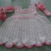 Ажурное платье для маленькой принцессы