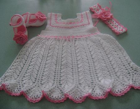Ажурное платье для маленькой принцессы ручной работы на заказ