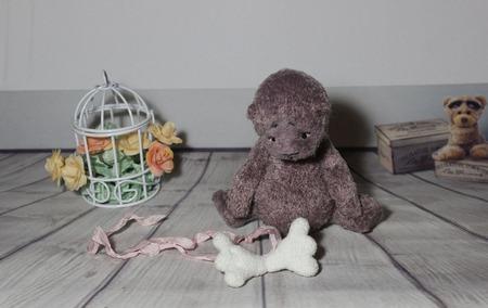 Мишка - ангел. ручной работы на заказ
