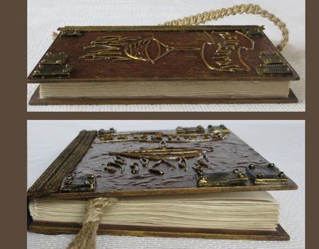 Кулинарная книга рецептов. Сделано под старину с красивыми листами. ручной работы на заказ