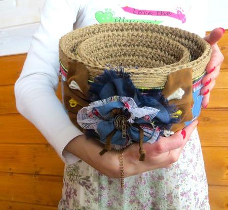 Корзины для рукоделия: Набор корзин - 2шт – для хранения  рукоделия. ручной работы на заказ