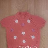 Пуловер для девочки с коротким рукавом