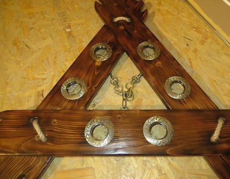 Люстра-треугольник: в деревенском стиле ручной работы на заказ