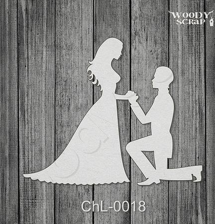 Чипборд Жених и Невеста ручной работы на заказ