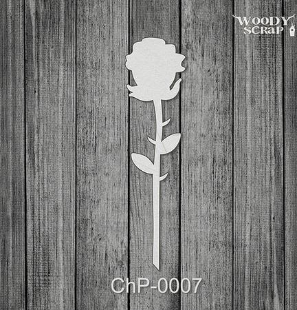 Чипборд Роза ручной работы на заказ