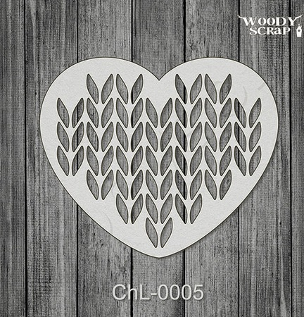 Чипборд Вязаное Сердце ручной работы на заказ