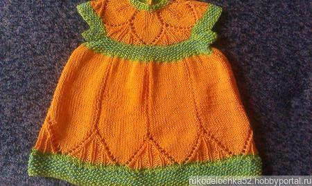 Платье для девочки 6-9 мес. ручной работы на заказ
