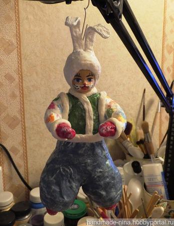"""Кукла ватная """"Заяц"""" ручной работы на заказ"""