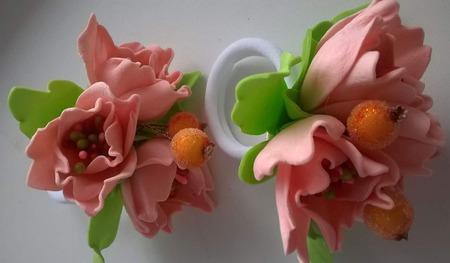 """Резинки """"Цветы весны"""" ручной работы на заказ"""
