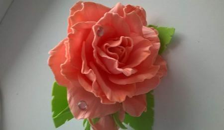 """Резинка """"Роза"""" ручной работы на заказ"""