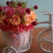"""Цветочная композиция """"Велосипед"""""""