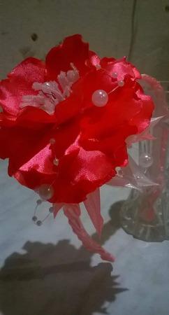 Ободок с большим цветком ручной работы на заказ