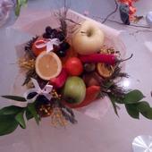 фото: фруктово-овощная съедобная флористика