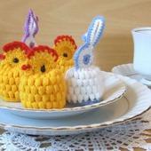 Цыплята и зайчики на пасхальные яйца