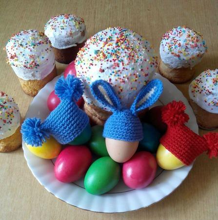 Шапочки на пасхальные яйца ручной работы на заказ