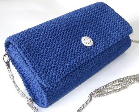 Клатч синий вязаный ручной работы на заказ
