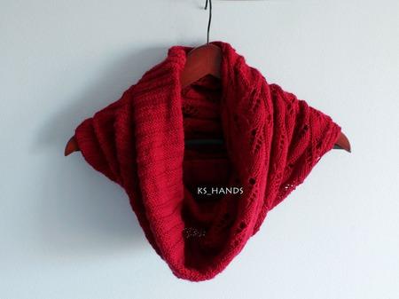 Снуд-трансформер красно-бордовый ручной работы на заказ