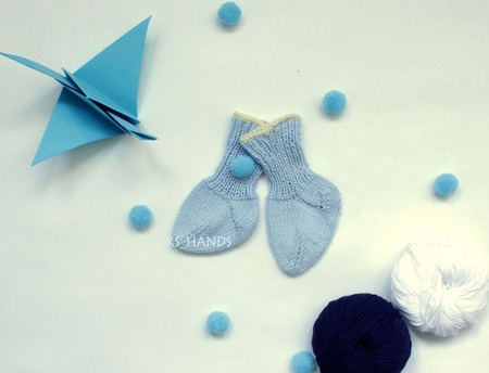 Носочки для новорожденных (хлопок) ручной работы на заказ