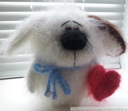 Пёсик Бимка-Валентинка ручной работы на заказ