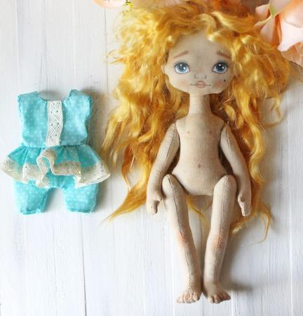 Девочка с солнечными волосами ручной работы на заказ
