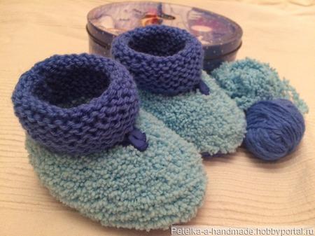 Пинетки вязанные ручной работы на заказ