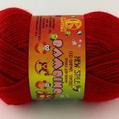 Пряжа Камтех Бамбино цвет №046 красный, шерсть меринос-35%, акрил-65% 50 гр 150 м