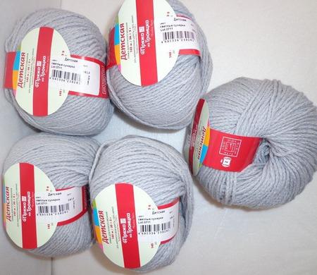 Пряжа Троицкая Детская цвет №0813 светлые сумерки ручной работы на заказ