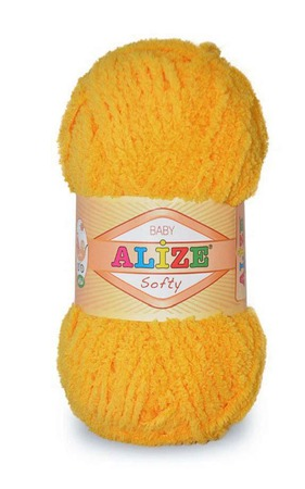 Пряжа Alize Softy (Ализе Софти) цвет №216 100% микрополиэстер ручной работы на заказ
