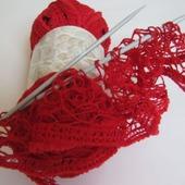 Пряжа Alize DANTELA цвет 106 красный, 16% полиамид 84% акрил, 100 гр