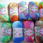 Alize Miss batik 100% мерсеризованный хлопок, 50 гр 280 м