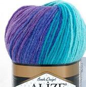 Пряжа Alize Lanagold batik 49% шерсть 51% акрил, 100 гр 240 м.