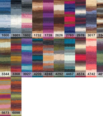 Пряжа Alize Lanagold batik 49% шерсть 51% акрил, 100 гр 240 м. ручной работы на заказ