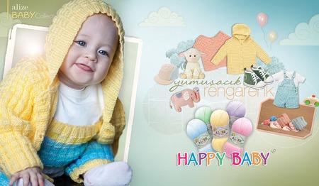 Пряжа Alize Happy baby 65 % акрил 35 % полиамид, 100 гр 350 м. ручной работы на заказ