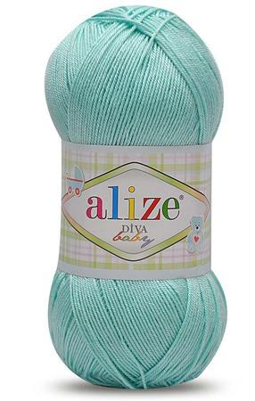 Пряжа Alize Diva baby (Ализе Дива беби) 100% микрофибра, 100 гр 350 м ручной работы на заказ