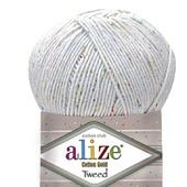 Пряжа Alize Cotton gold tweed (Ализе Коттен голд твид) 57% хлопок 40%
