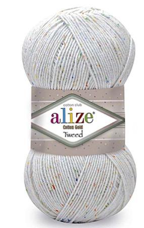 Пряжа Alize Cotton gold tweed (Ализе Коттен голд твид) 57% хлопок 40% ручной работы на заказ