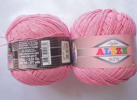 Пряжа Alize Aura (Ализе Аура) 80 % микрофибра акрил 20 % полиамид ручной работы на заказ