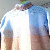 """Ручная работа свитерок спицами """"Небесно голубой"""""""