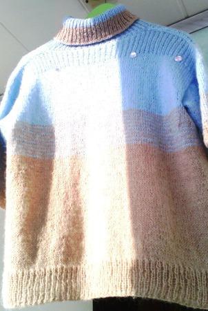 """Ручная работа свитерок спицами """"Небесно голубой"""" ручной работы на заказ"""