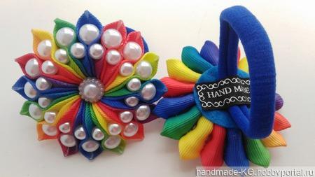 Резинки для волос с бусинками ручной работы на заказ