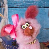 Собачка Зойка, вязаная игрушка
