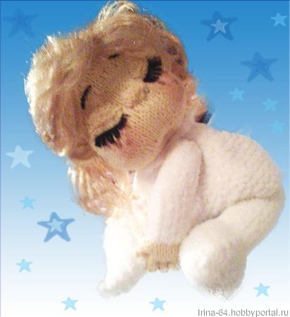 Пупс-спящий ангел ручной работы на заказ