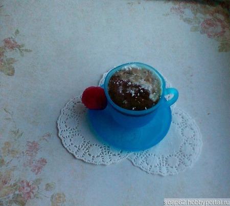Мыло чашка кофе ручной работы на заказ