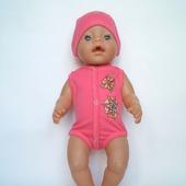 Боди и шапочка для беби бон (baby born)