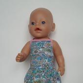 Трикотажный сарафан для беби бон (baby born)