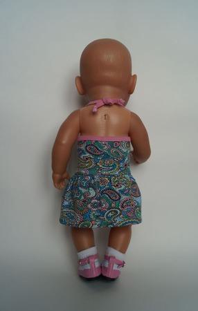 Трикотажный сарафан для беби бон (baby born) ручной работы на заказ
