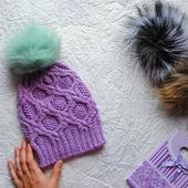 Весення шапочка для девочки 3-4 лет