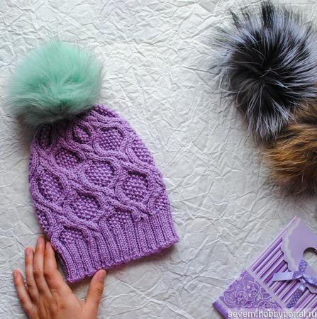 Весення шапочка для девочки 3-4 лет ручной работы на заказ