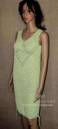 Платье вязаное летнее ручной работы на заказ